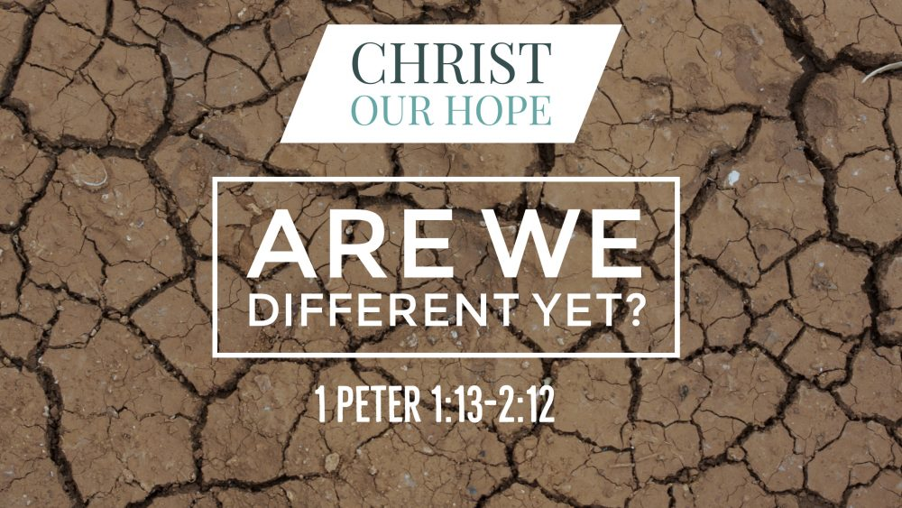 Are We Different Yet? | 1 Peter 1:13-2:12 Image