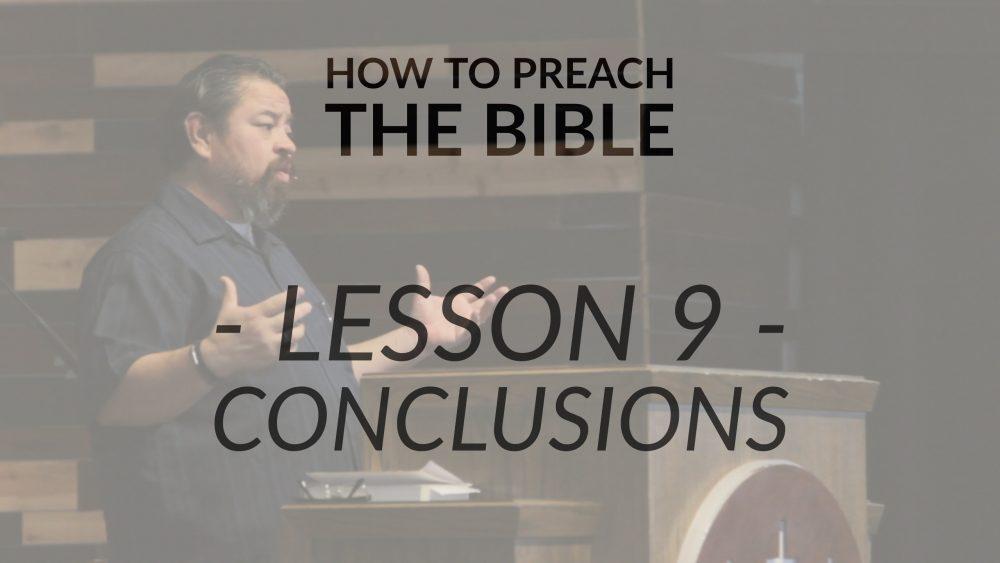 Lesson 9 | Conclusions