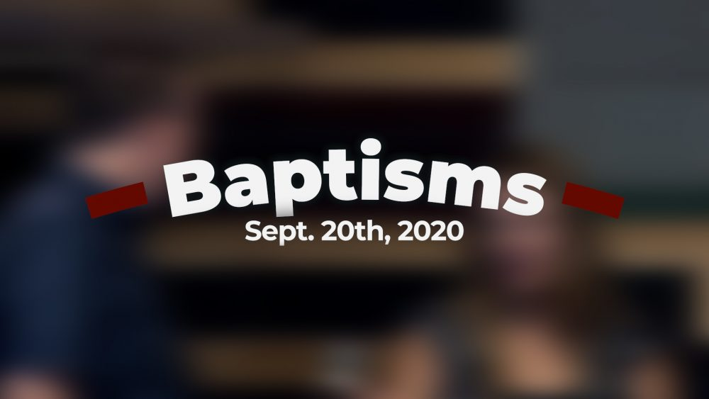 September 20th, 2020 Baptisms Image